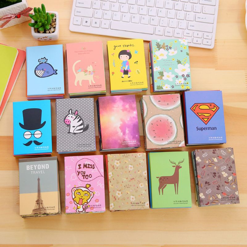 Tissue Paper Absorbent Paper Face Oil Cleaning Makeup Cute Cartoon Absorb Blotting Face Facial Cleanser Tools Boy Girl(China)