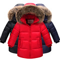 Brand Boys Duck Down Jackets For Cold Winter Children Thick Duck Down & Parkas Girls Fur Collar Outerwear & Coats -30 Degrees