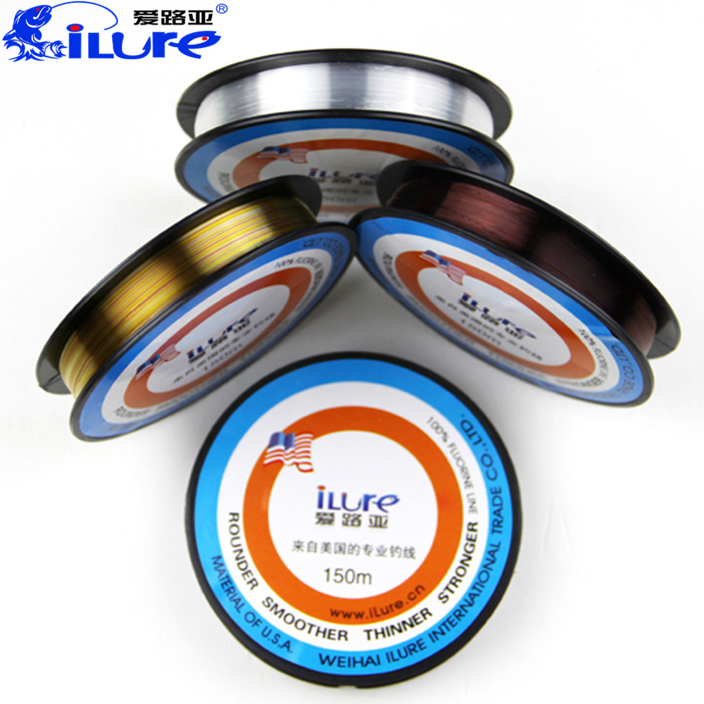Ilure fluorocarbon fishing line 150m 3 colors japan carp for Fluorocarbon fishing line