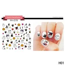 1 sheet nail art sticker halloween nail sticker sets water decals full nail wraps decoration women