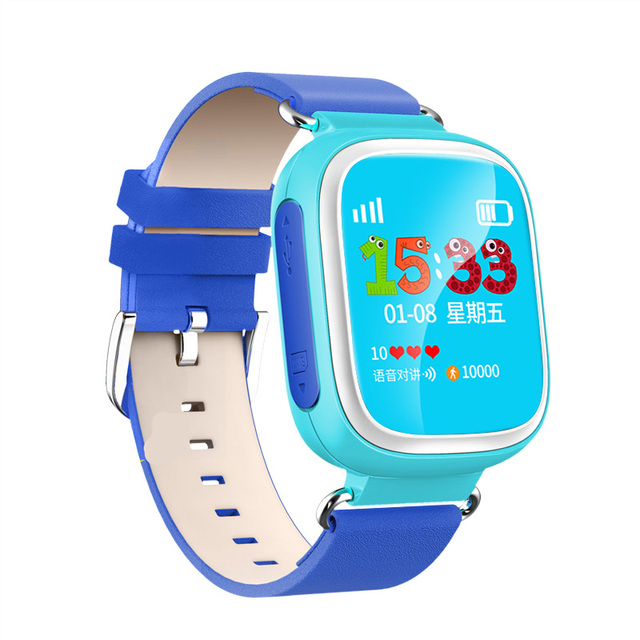 2016 Niño GPS Reloj Inteligente Reloj SOS Tracker Dispositivo de Localización de Llamadas de Seguros para Niños Anti Perdido Monitor de Bebé Regalo Q80 PK Q50 Q60