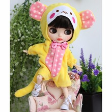 Subcluster 1/6 Doll Clothes Cute Monkey Hooded Suit for Blyth Doll  Accessories for Blyth 1Pcs Clothes