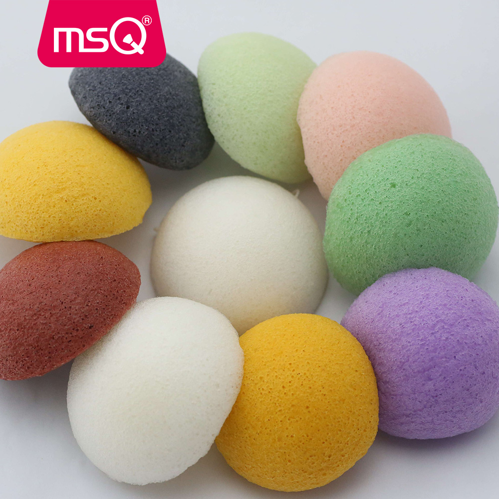 MSQ Pro Natural Konjac Konnyaku Facial Cosmetic Puff Face Powder - Machiaj