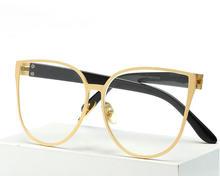 2017 new fashion brand women sexy cateye glasses plain women Cat Eye TR90 glasses frame high quality vintage female gafas