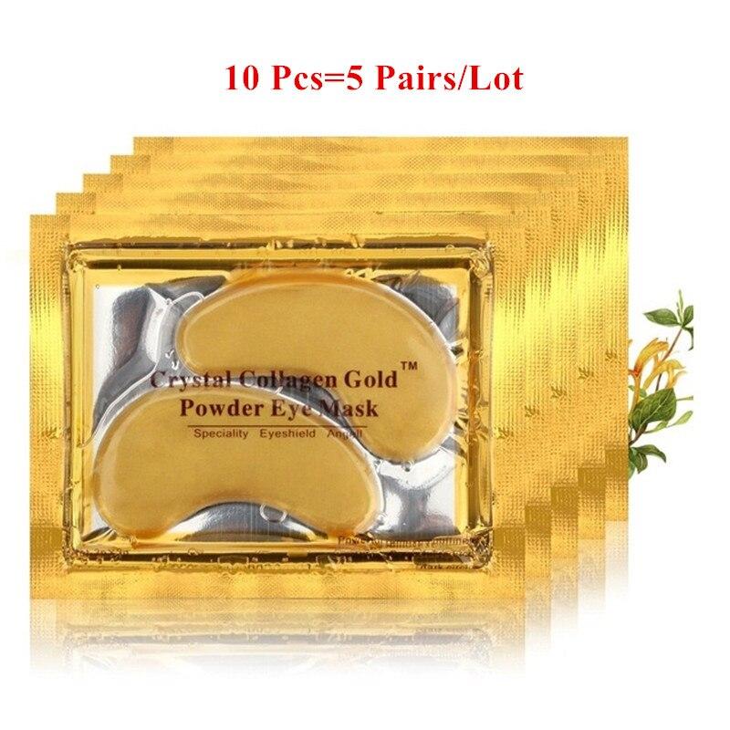 10pcs Beauty Gold Crystal Collagen Eye Mask Hotsale Eye Patches Moisture Eye Mask,Anti-Aging Face Care Skin Care Eye Patches transdermal patches
