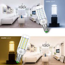 10PCS E27 LED Lamp Candle Light E14 Corn Bulb GU10 220V Chandelier For Home 24 36 48 56 69 72leds Lampada 5730SMD