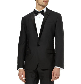 2017 Most Popular Classic Men Suits Formal Prom Suits Vintage Groomsmen Wedding Tuxedos Black Mens Daily Wear (Jacket+Pants+Tie)