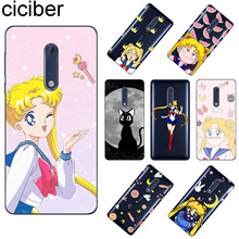 ciciber For Nokia 8 7 7.1 6 6.1 5 5.1 3 3.1 2 2.1 1 Plus Soft TPU Phone Case X7 X6 X5 X3 Sailor Moon Fundas Coque Capa