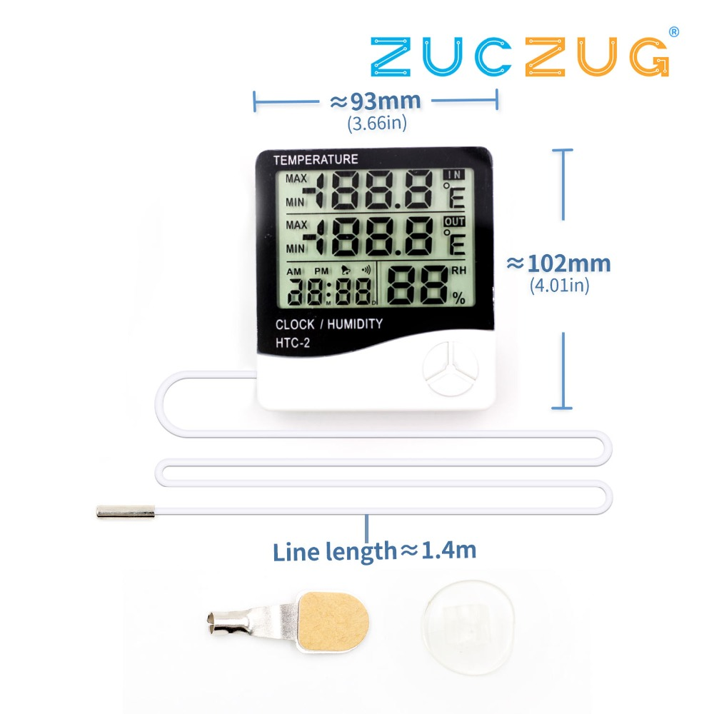 youe shone HTC-2 Weather Station Digital LCD Indoor/Outdoor Room Hygrometer Thermometer Clock Temperature Humidity Meteryoue shone HTC-2 Weather Station Digital LCD Indoor/Outdoor Room Hygrometer Thermometer Clock Temperature Humidity Meter