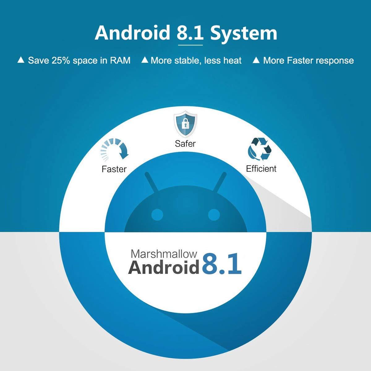 2018 T9 tv box android 8.1 WIFI 4 gb 64 gb TV Box Bluetooth 4.0 RK3328 Quad Core 4g 32g Smart tv Set-Top box android 8.1 Boîte 5g - 2