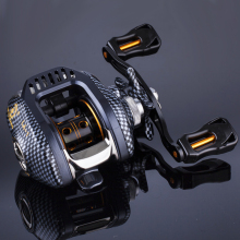 AZJ Stealth Super Light Baitcasting Fishing Reel Carbon Body 200g 6.3:1 Fresh/Salt Water Lure Fishing Reel Left and right