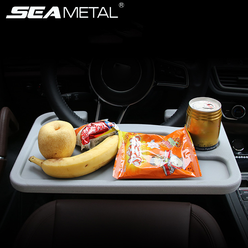 <font><b>Car</b></font> Steering <font><b>Wheel</b></font> <font><b>Desk</b></font> Laptop Computer Mini Table Universal Portable Work Drink Cup Holder Seat Tray Stand in Auto Accessories image