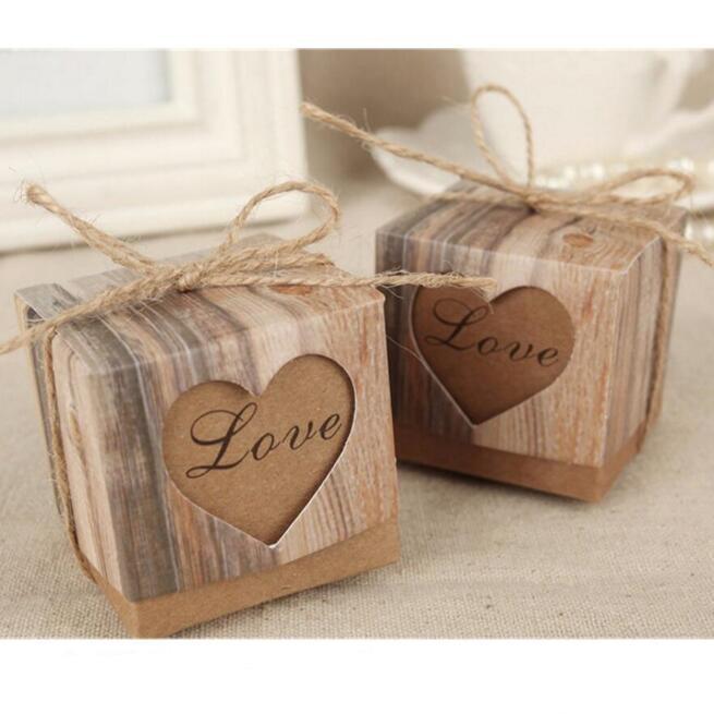 50 Unidslote Caja Romantica Del Caramelo Del Corazon Para La - Decoracion-romantica-vintage