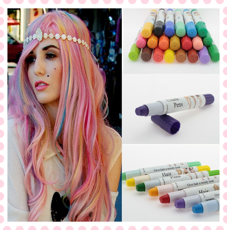 Wholesale 12pcs Hair Dye Color Easy Temporary Non Toxic Diy