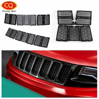 Chuang Qian Racing Grills Front Honeycomb Mesh Grille Grill For Jeep Grand Cherokee 2014 2016 Insect Grilles Bug Front Screen