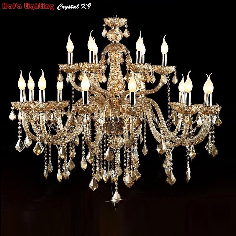 Křišťálový lustr pro obývací pokoj Lustres de cristal Dekorace Tiffany Přívěsky a lustry Home Lighting Indoor Lamp