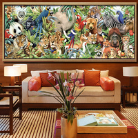 New 5D DIY Diamond Painting Zoo Animals Embroidery Full Square Diamond Cross Stitch Rhinestone Mosaic Painting