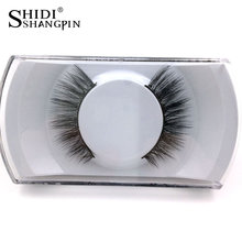 New 1Pair Natural False Eyelashes 3d Makeup 3d Mink Lashes Soft Eyelash Extension Fake Strip Mink Eyelashes Long Drop Shipping
