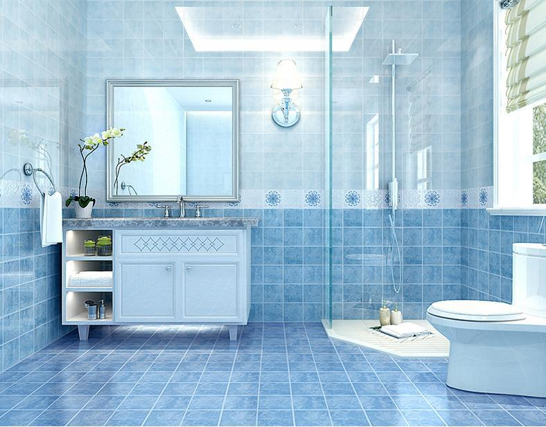 5D ink jet Small floor Interior wall tiles Shower Room TOILET ...