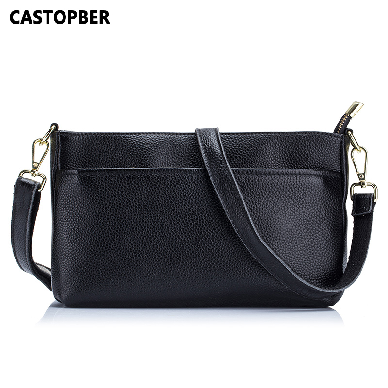 Women Messenger Bags Cowhide Genuine Leather Fashion Designer Ladies Crossbody Handbags Day Clutches Famous Bag High