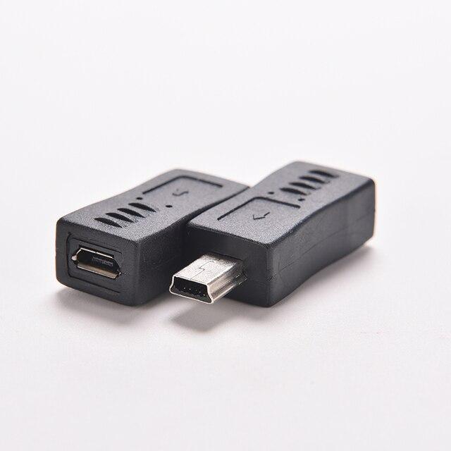 1PC Schwarz Micro/Mini 4 Typ Gerade/L Form USB Weiblichen zu Mini/Micro USB Männlich adapter Ladegerät Stecker Konverter Adapter