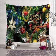 купить Urban Night Christmas Santa Claus Tapestry Wall Hanging Sandy Beach Picnic Throw Rug Blanket Camping Tent Travel Sleeping Pad по цене 566.92 рублей
