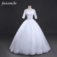 2015 Fashionable Romantic Sexy Lace Wedding Dresses Word Shoulder Vestidos Women Plus Size Vintage Belt Bridal