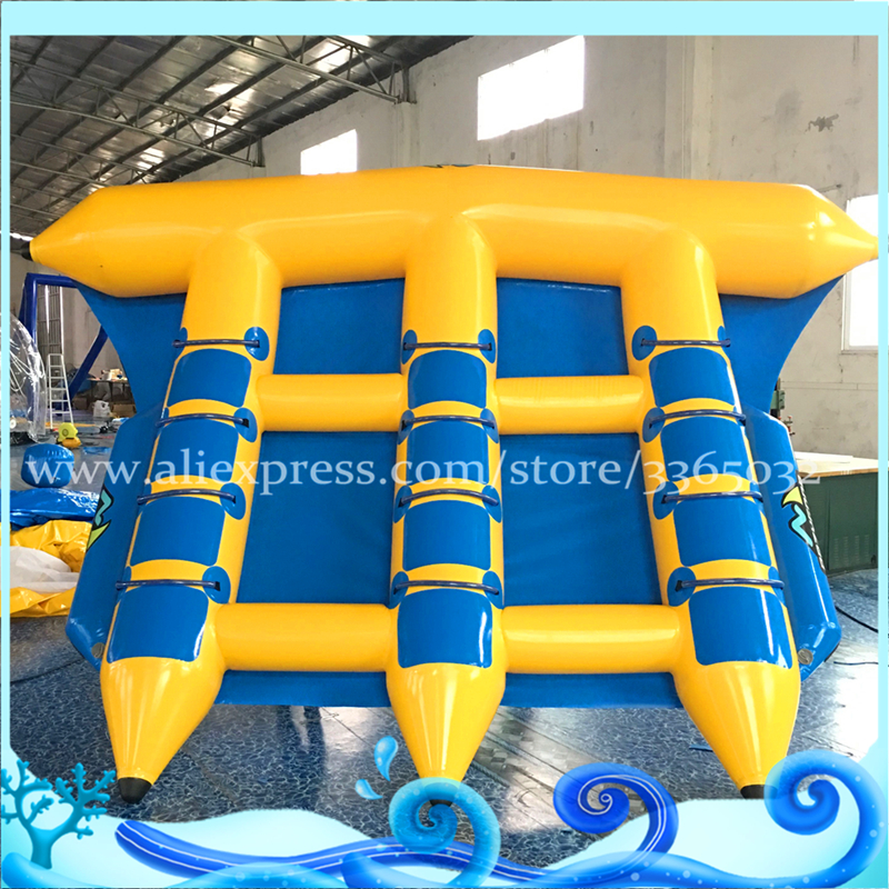 Popular Inflatable Water Tubes 6 Persons Fly Fish Banana Boat Water Sports ride towable for sale free shipping 3 3 1 2m water banana boat for sport games