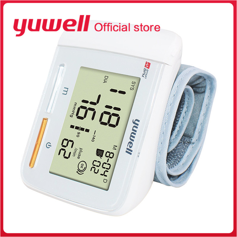 Yuwell 8900A Wrist Blood Pressure Monitor Portable Large Digital LCD Medical Equipment Measurement CE Household Health Care ToolYuwell 8900A Wrist Blood Pressure Monitor Portable Large Digital LCD Medical Equipment Measurement CE Household Health Care Tool