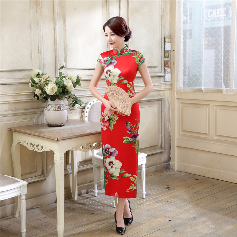 Shanghai Story Oriental Styled Dresses Qipao Women Traditional Dress Chinese Cheongsam Long Chinese Dress MultiColor