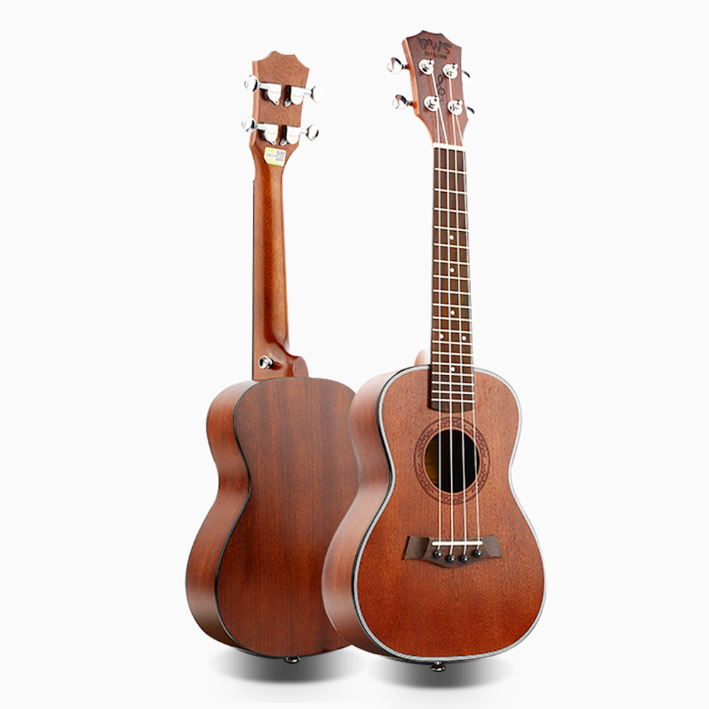 HOT 23 inch Vintage wine red Concert Ukulele 4 AQUILA Strings Hawaiian mini Guitar Uku Acoustic Guitar Ukelele mahogany UK2322 image