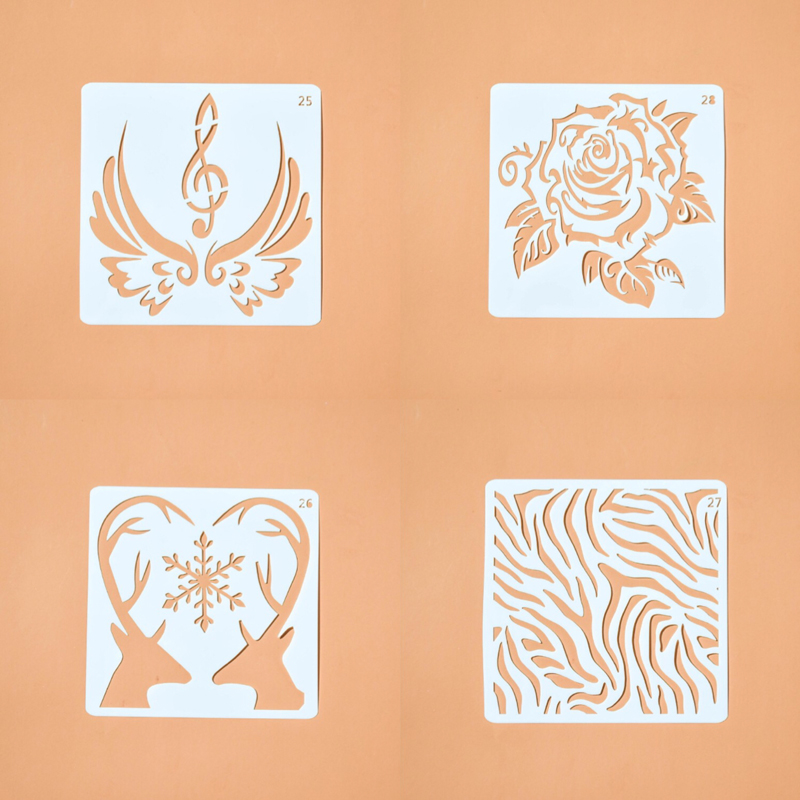 Soft Plastic Tattoo Stencil For Body/Face Paint Stencils For Airbrushing Cake Decorating Supplies Walls Painting Welcome Custom