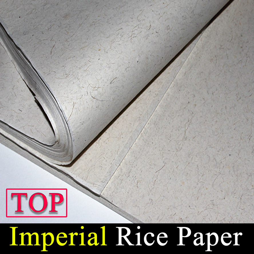 100 sheet/pack Imperial Rice Paper for painting calligraphy xuan paper from Ancient Papermaking Method