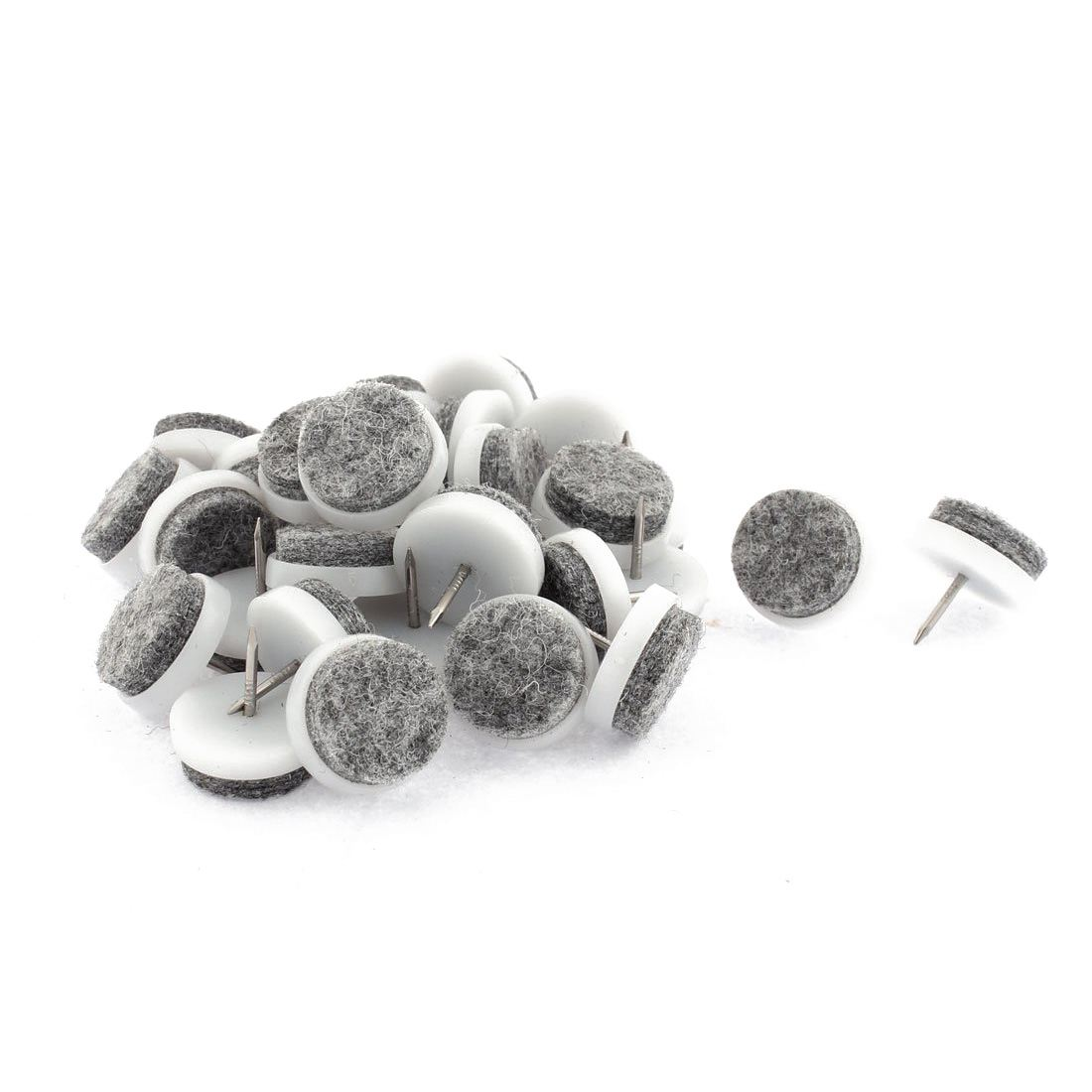 Hot Sale Furniture Chair Sofa Feet Round Pads Nail Protectors 22mm Dia 30PCS