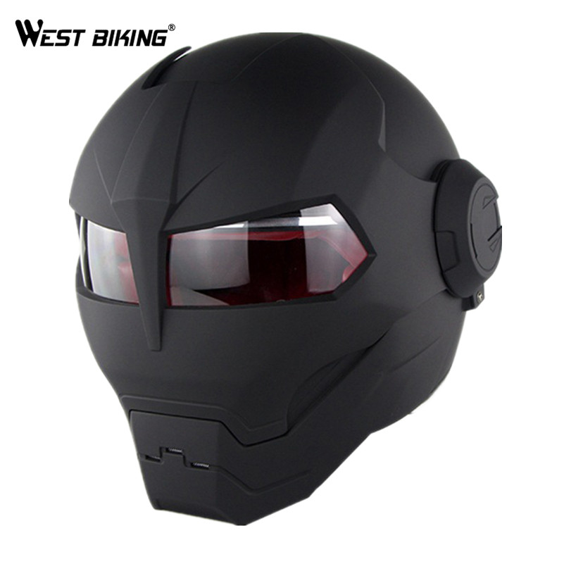 WEST BIKING Motocycle Full Face Helmet Matt Black Large Size Scooter Open Face Safety Helmets Waterproof Cycle Adult Helmet ls2 of590 chrome motocycle helmet open