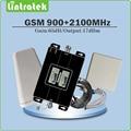 Display LCD duplo Ganho 65dB Dual Band Repetidor GSM 900 MHz UMTS 2100 MHz WCDMA EDGE/HSPA Móvel Reforço de sinal conjunto Completo kit