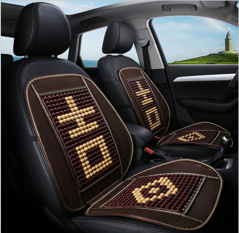 Truck Driver Seat Cushion >> Us 26 29 30 Off Summer Bamboo Ventilation Wooden Bead Air Car Seat Cushion Cooling Cushion Car Large Truck Driver S Seat Fit All Cars In