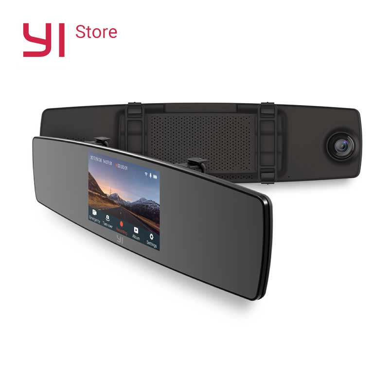 Dashboard Camera For Car | YI Mirror Dash Cam Dual Dashboard Camera Car Recorder Touch Screen Front Rear View HD Camera G Sensor Night Vision Monitor