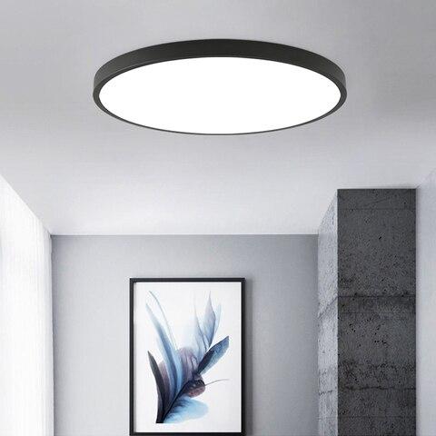 luminaria moderna de teto led para sala de estar para quarto superficie lampada de teto