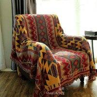 Cotton Bohemia Super Soft Blanket Thicken Blanket Fashion Throw On Sofa Bed Blanket Table Plane Stripe