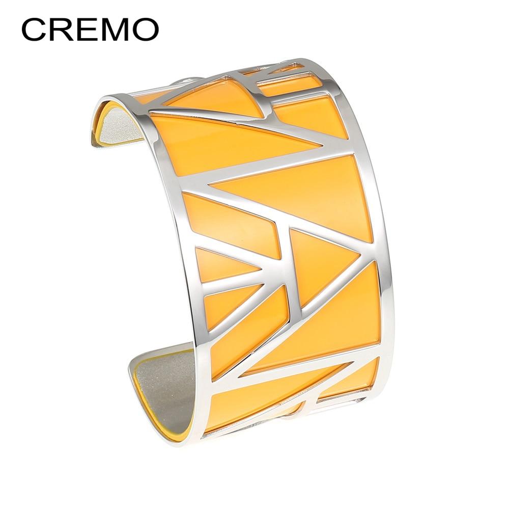 Cremo Pyramid Egypt Bangles Argent Stainless Steel Bracelet Argent Reversible Leather Geometric Love Bracelet Pulseira Feminina