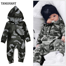 Cotton Romper Outfits Playsuit Long-Sleeve Toddler Newborn Infant Baby-Boy TANGUOANT