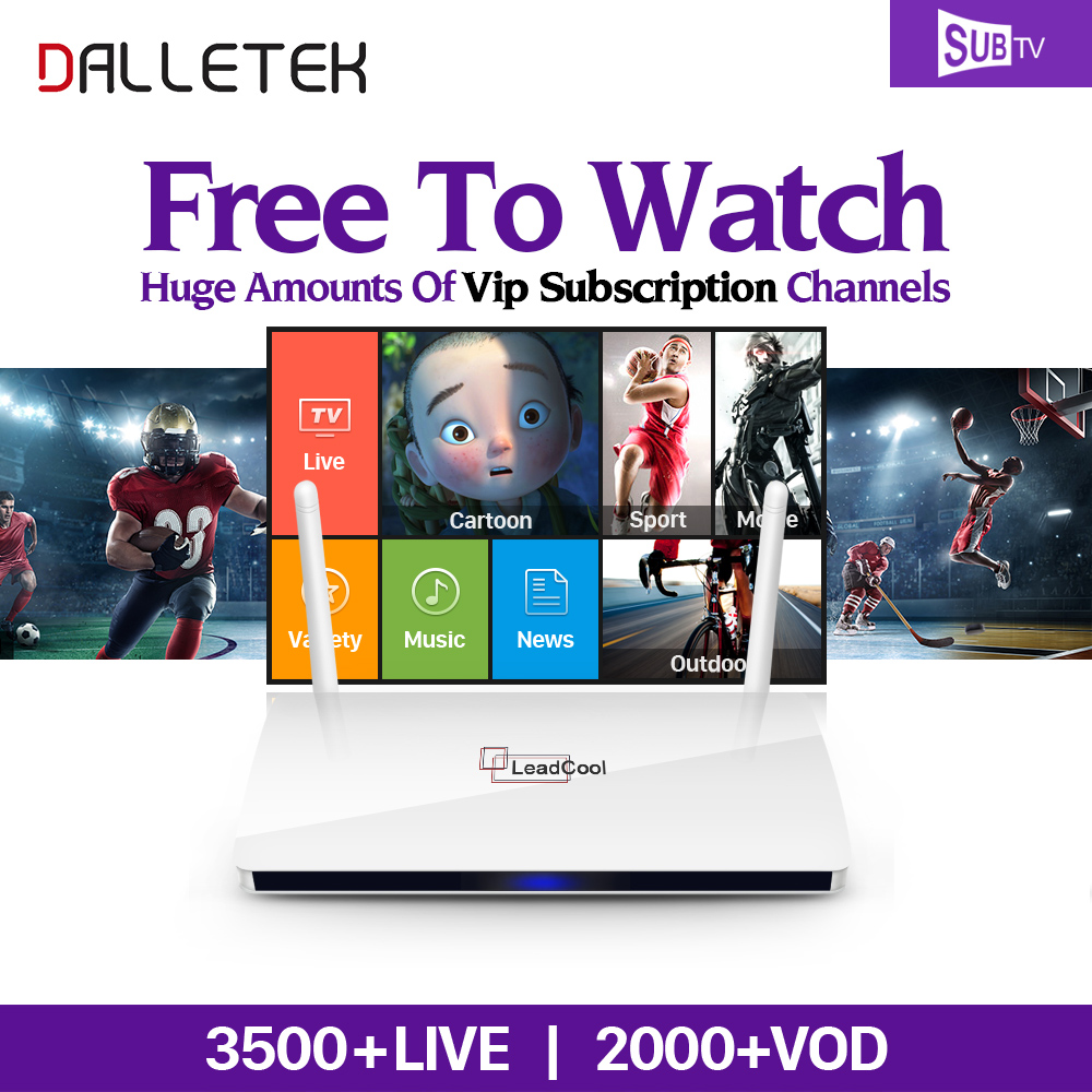 Dalletektv Europe Arabic IPTV Box QHDTV Leadcool IP TV Android TV Box 1Year IUDTV SUBTV Subscription French Turkish IPTV Top Box leadcool android tv box with iptv subscription 1 year iudtv 2000 iptv channels europe french arabic albania spain sweden iptv