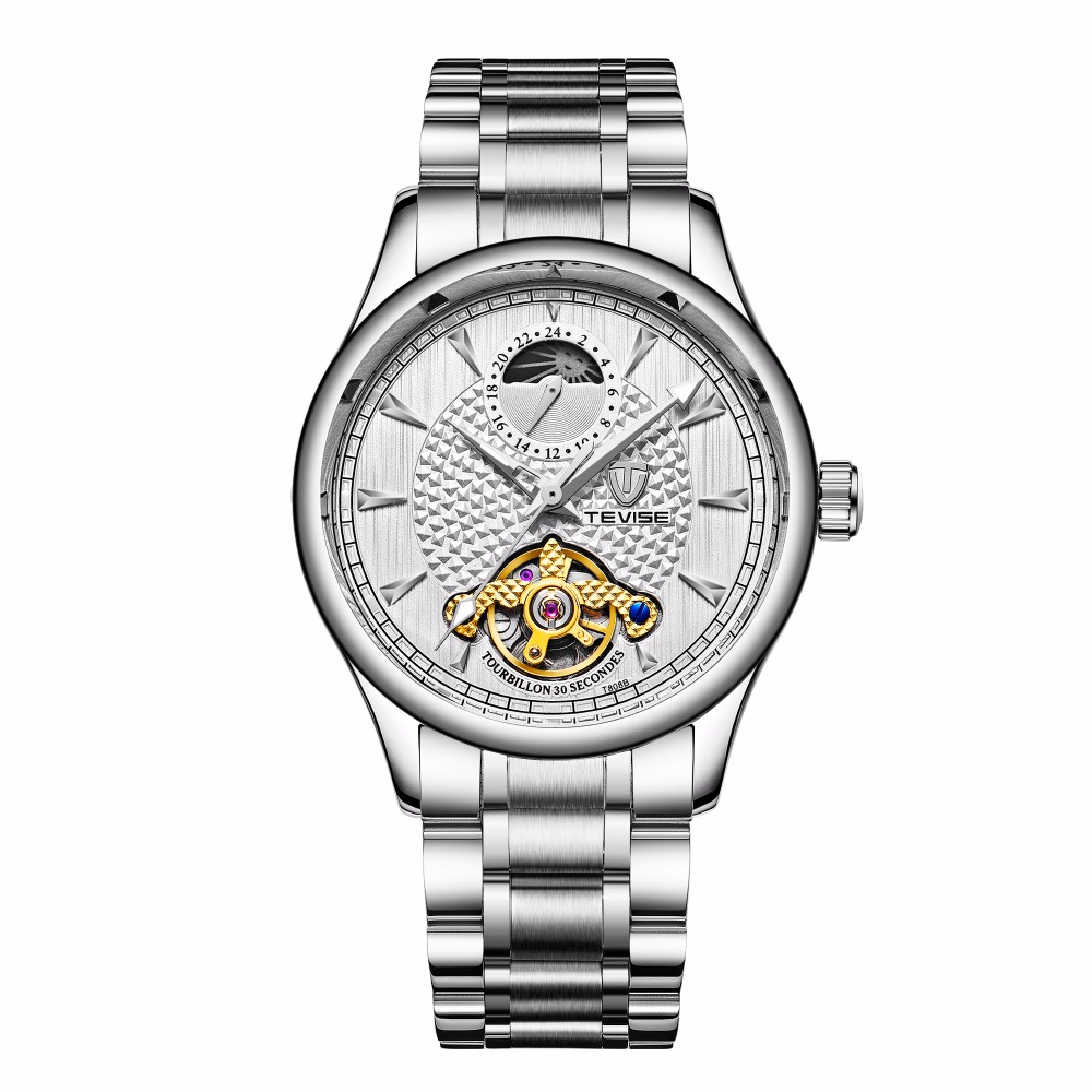 TEVISE 2018 Mens Watches Stainless Steel Mechanical Watch Automatic and Sport Wrist Watch все цены