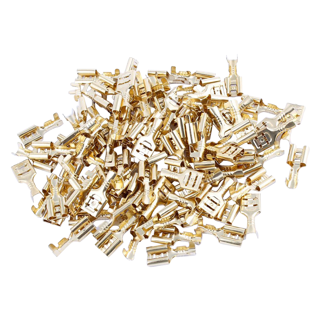 100 Pcs Car Speaker 6.3mm Female Spade Terminal Wire Connector