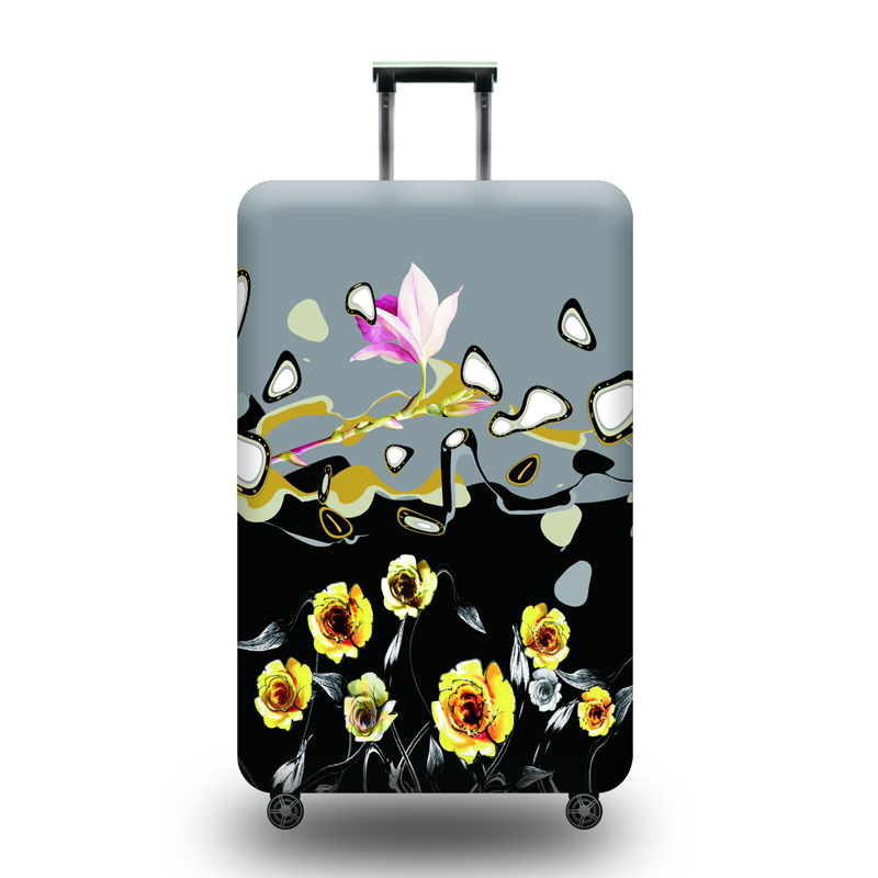 Mechanical Style Owl Decor Travel Luggage Protector Case Protective Suitcase Cover Elastic Luggage Protector Case Protector,Four Sizes Available