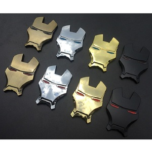 Image 4 - 3D Auto Chrome Metal Iron Man Car Emblem Stickers Logo Decoration The Avengers For Car Styling Decals Exterior Accessories