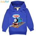 Jiuhehall New 3-7Yrs Children Cartoon Train Print Hoodie Boys Girls Cartoon Sweatshirts Kids Long Sleeve Hooded Costume FCM070