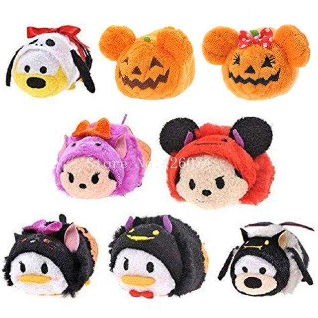 Halloween Mickey Minnie Donald pato Plutón Goofy calabaza Duffy niños Mini limpiador de Smartphone de felpa niños juguetes de peluche para niños