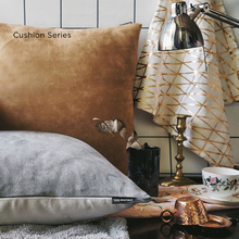 Pillow grey solid brown coffee Morocco design Nordic back sofa bed Cushion striped plaid geometric Throw Pillow French chic